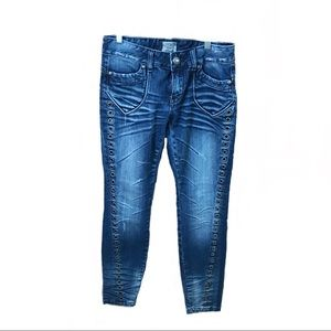 Los Angeles Express. Jeans 28 Distress skinny